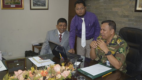 MECA website launched officially by Adjutant General of Bangladesh Army
